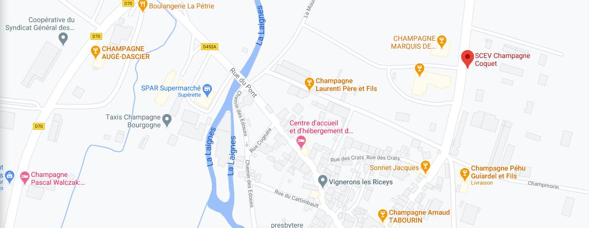 carte acces champagne coquet domaine